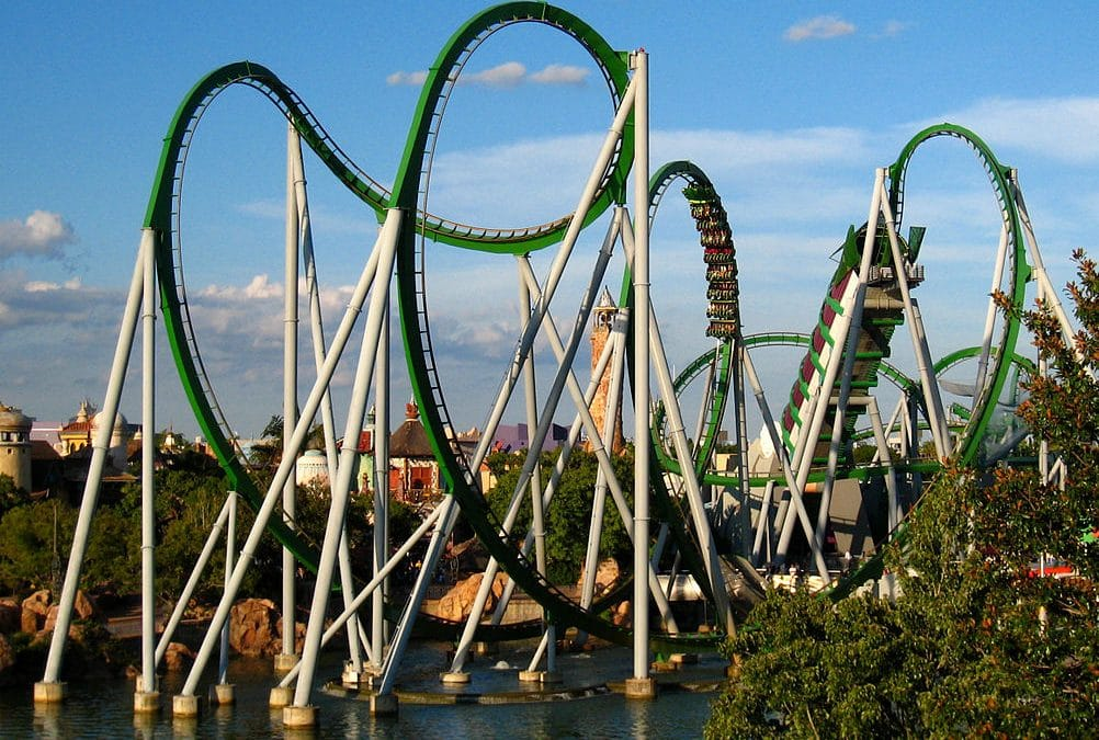 Experience a Monster of a Ride on the Hulk Roller Coaster (Definitely Not to Be Missed)