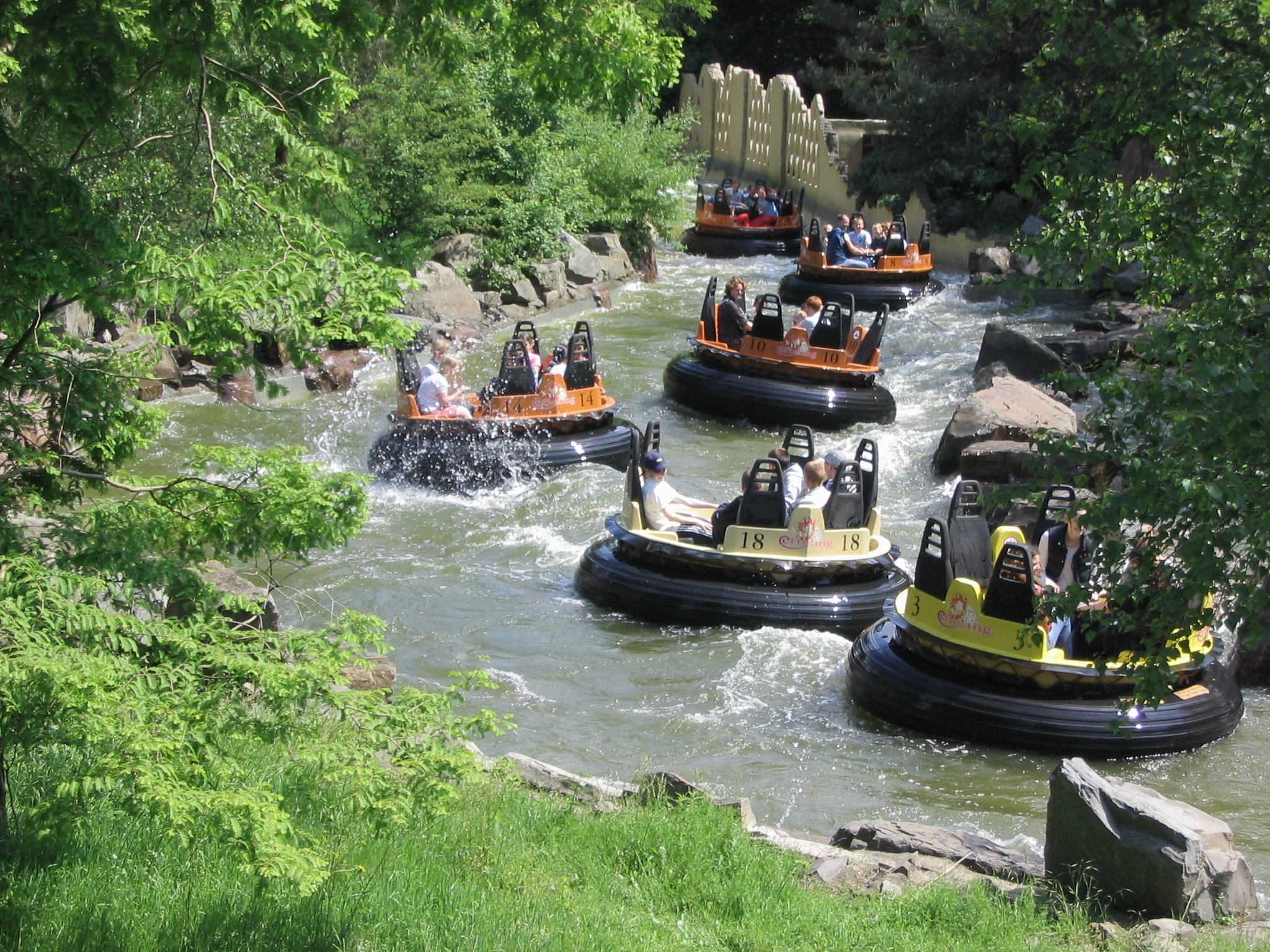 people enjoying water rafting