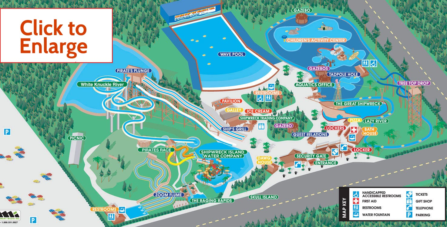 SHIPWRECK ISLAND WATERPARK Map